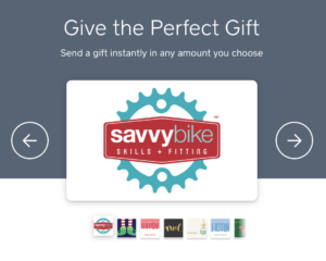 Savvy Bike Gift Cards Now Available!